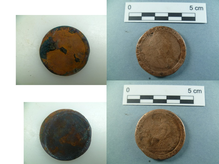 Figure 1. 1797 copper penny (Photo: V. Folgueira).