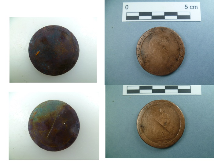 Figure 2. 1797 Copper penny (Photo: V. Folgueira).