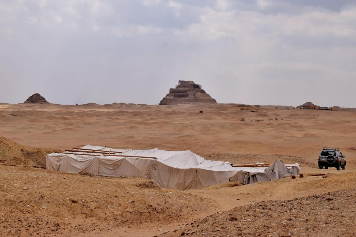 The site at Abusir.