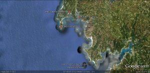 Fig. 2 Location of Punta Restelos Shipwreck.
