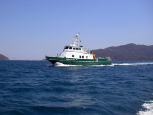 R/V Hercules, the vessel undertaking remote sensing work in Episkopi Bay, courtesy of RPM Nautical Foundation.
