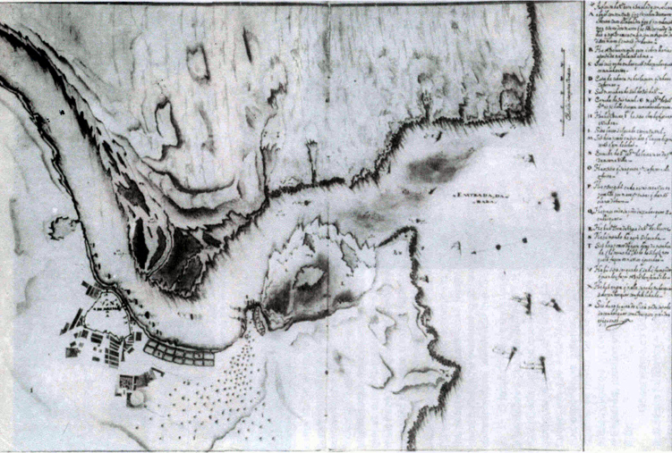 17th-Century map of the mouth of the Arade River