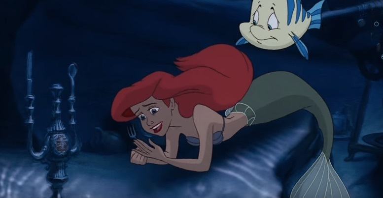 The idea of a candelabra being in a shipwreck isn't so out there. (Image: The Little Mermaid).