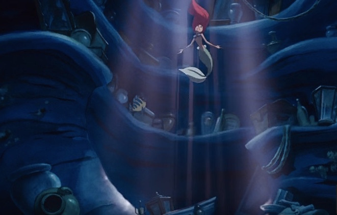 Ariel in her grotto. (Image: The Little Mermaid).