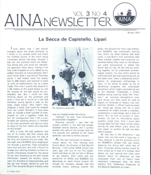 AINA Quarterly 3.4 Winter 1976