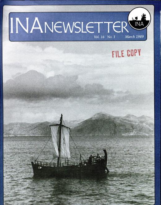 INA Quarterly 16.1 Spring 1989